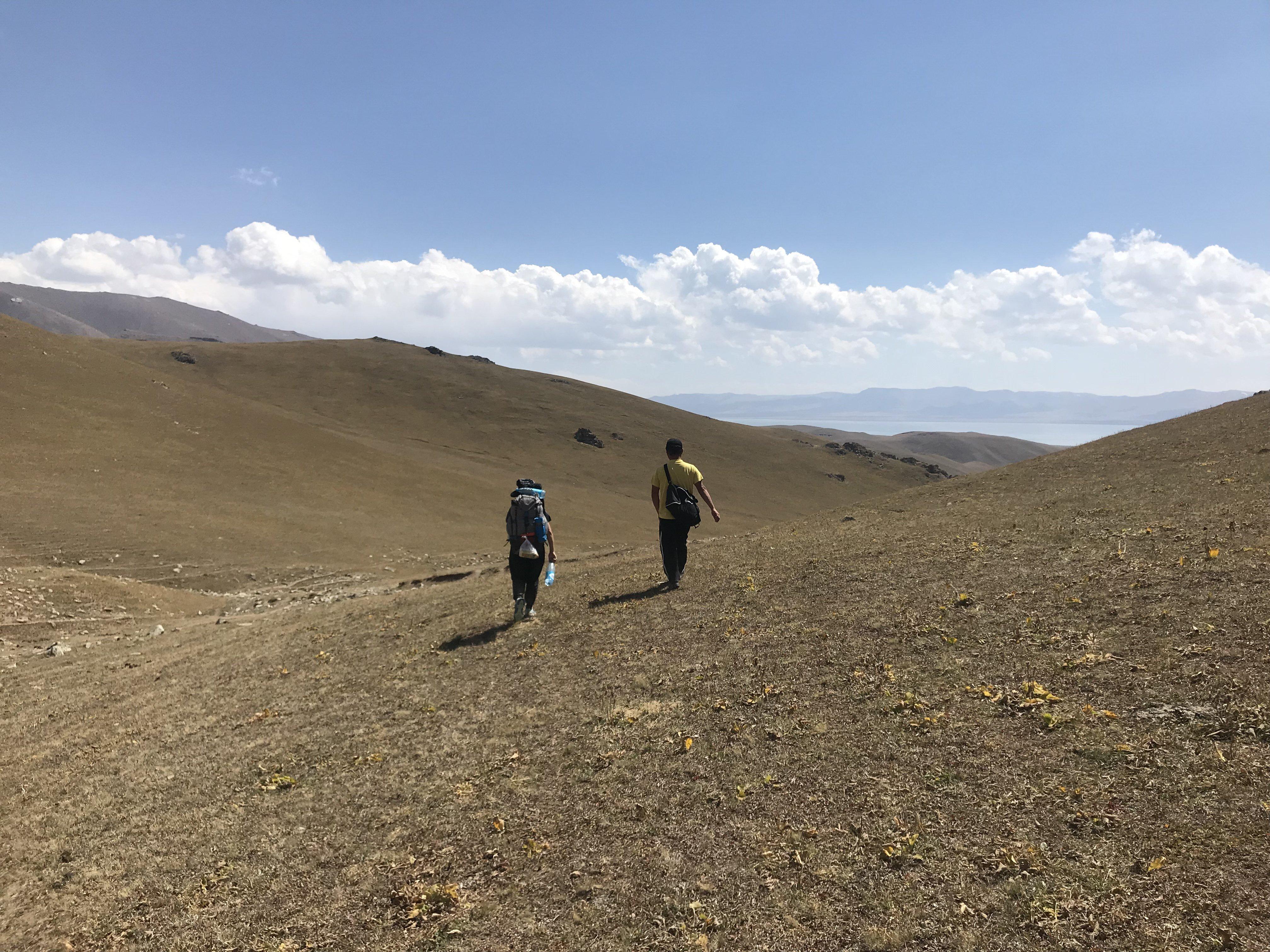 Trek lac son kul Kirghizistan